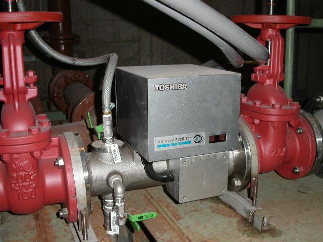 マイクロ波汚泥濃度計 設置例